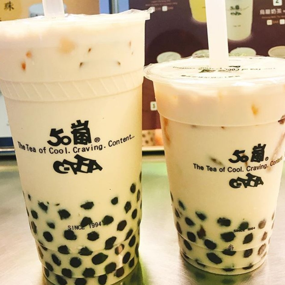 台湾の50嵐のタピオカミルクティー