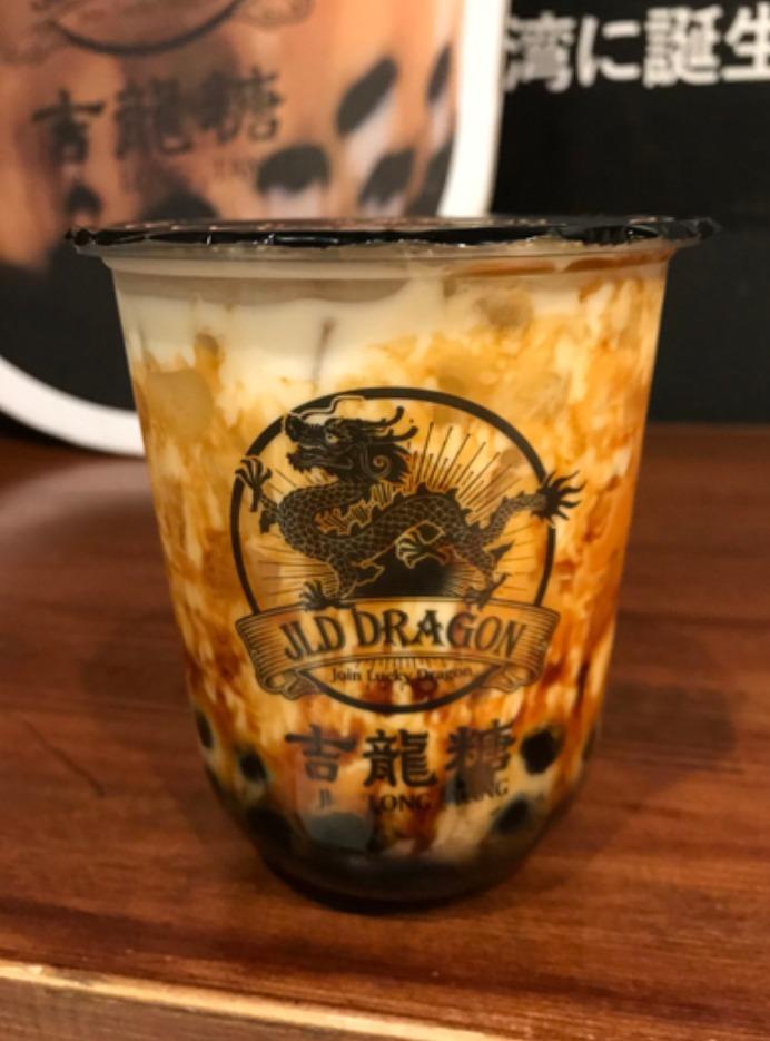 台湾の吉龍糖のタピオカミルクティー